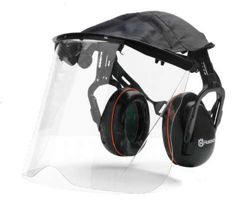 Genuine Husqvarna Hearing  Protection with (Perspex)  visor and cover Product Numberumber 5056653-48